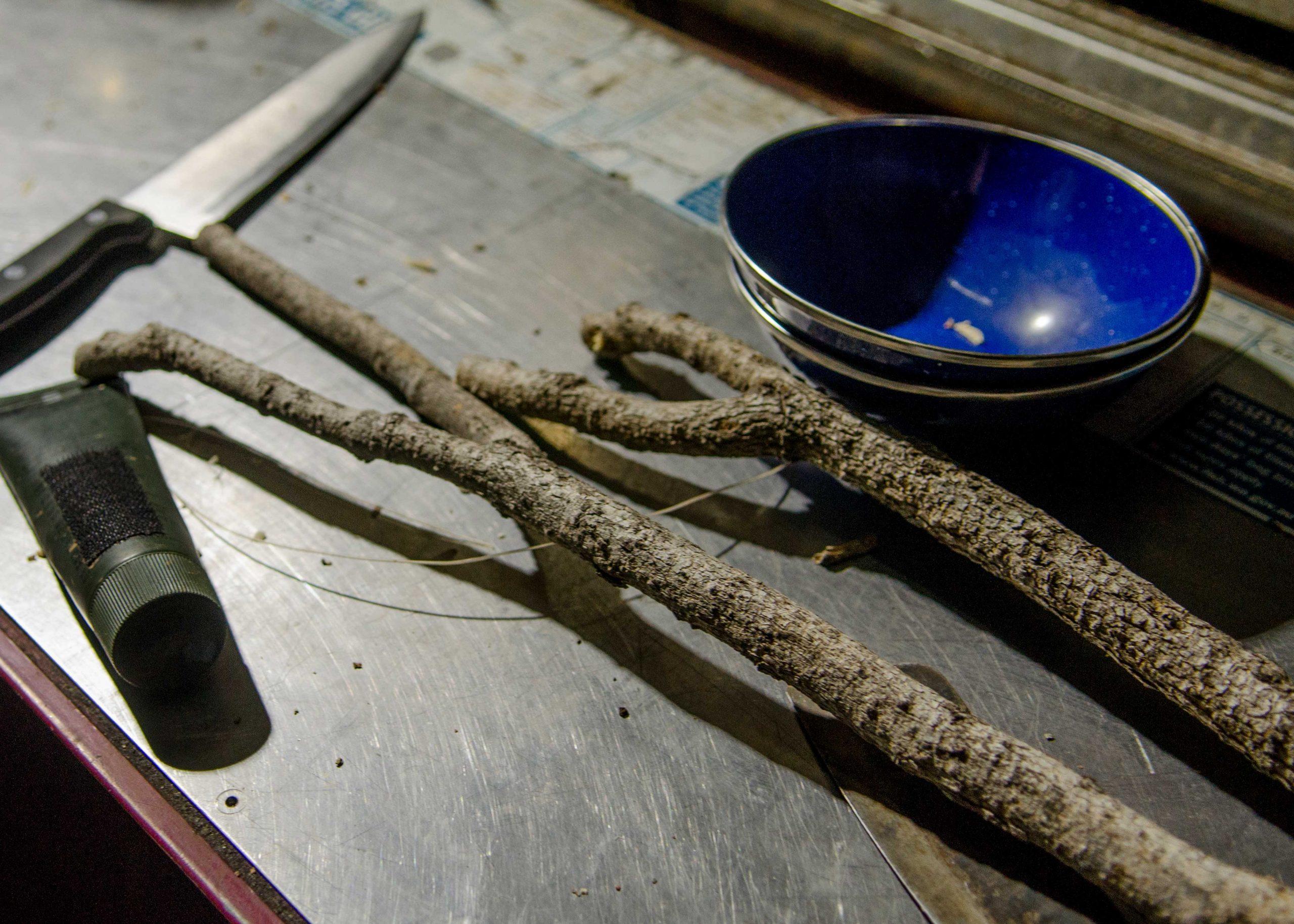 Making bushcraft spit