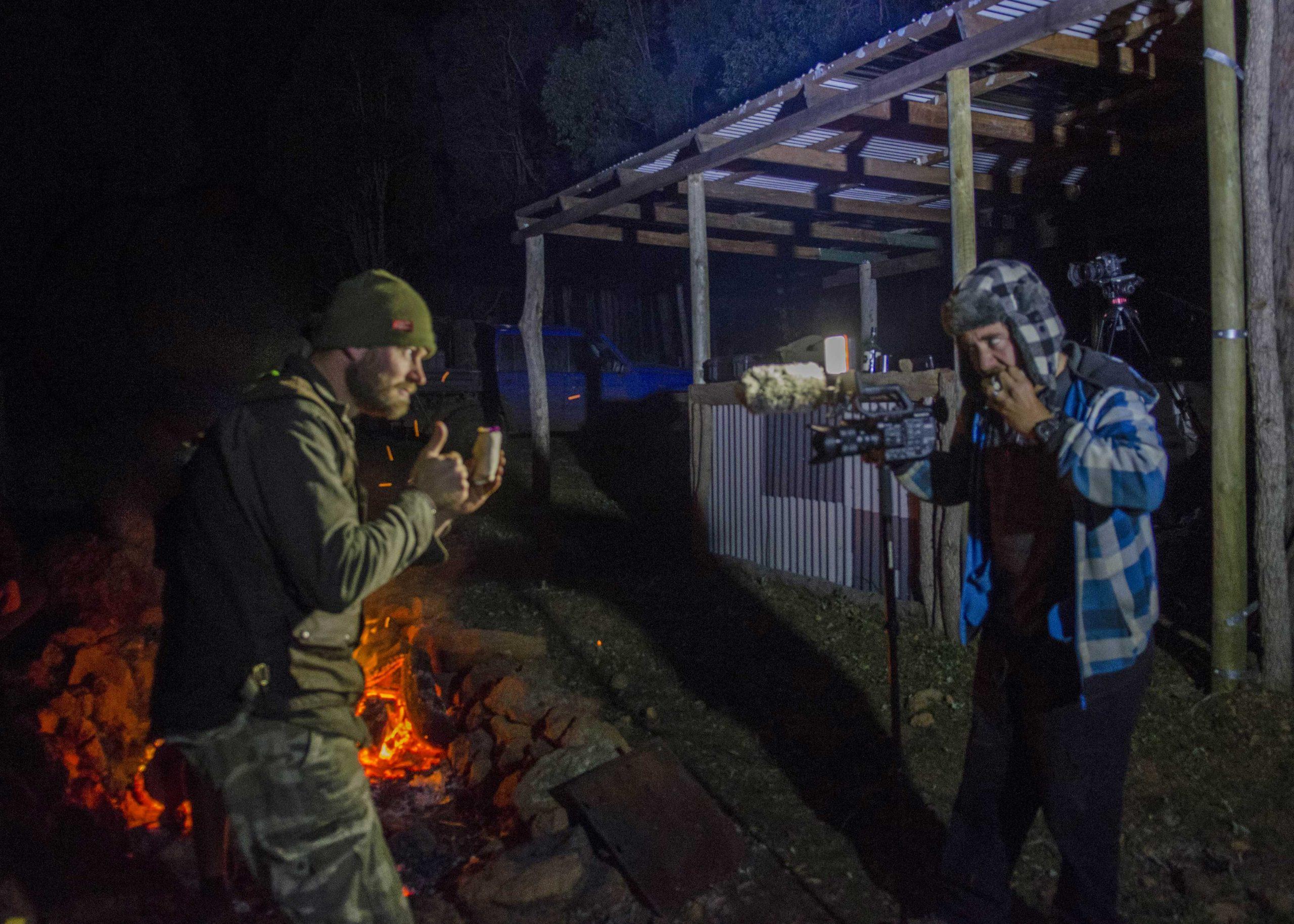 Ronny Dahl enjoying the pulled pork